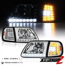 For 97-03 Ford F150 Expedition Chrome [3RD GEN] LED Corner Signal Lamp Headlight
