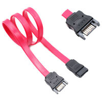 1m High Speed SATA 7pin Male to Female Extension HDD Connector Sync Data Cable^D