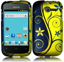 Huawei Ascend Y H866C Rubberized HARD Case Snap On Phone Cover Royal Swirl