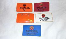 Bacardi Vanila Button - Pin....Bright...Bat Logo...NEW