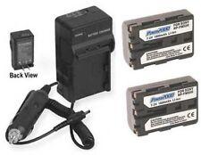TWO Batteries + Charger for Sony DSLR-A100K DSLR-A100/B DSLR-A100K/B DSLR-A100W