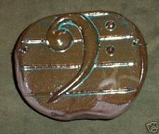 Musical Motif Bass Clef Melody wall-piece by Bahereh