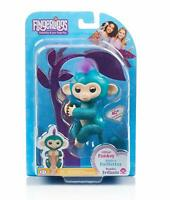 WowWee Quincy Fingerlings Glitter Monkey Interactive Baby Pet - Teal - Exclusive