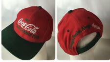 VTG 1997 Coca Cola Hat Holiday Caravan Tour Classic Spellout Rare Christmas Sewn
