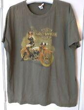 Vintage Mens T-Shirt Woman Girl on Motorcycle Harley-Davidson Daytona 2XL