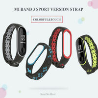 For XIAOMI Mi Band 3 Replacement Sport Silicone Rubber Wristband Bracelet Strap