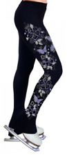 Ny2 Sportswear Black printed hearts and butterflies Ice skate pant ,size CL, NWT