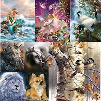 5D DIY Full Drill Square Diamond Painting Animals Cross Stitch Mosaic Kits Decor