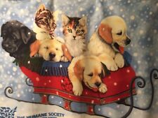 Humane Society Animal Blanket For You,the Cat or Dog Soft 100% polyester 48Wx30L