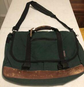 Vintage Jansport Messenger Bag Laptop School Bag Rare *broken Closure Clasp aa64
