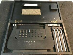 Moore & Wright Thread Micrometer Multi Anvil Set