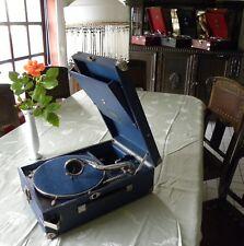 Koffergrammophon gramophone GRAMMOPHON Electrola Modell 101   FARBE BLAU 1929