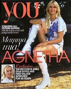 YOU magazine ABBA AGNETHA FALTSKOG rare interview UK issue 5 May 2013