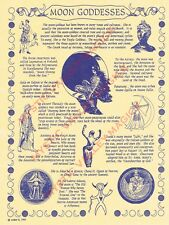 Moon Goddesses Poster - Pagan - Wiccan - For framing or Book of Shadows