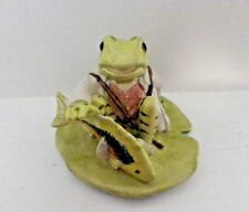 "RARE Beswick Beatrix Potter Figurine-Jeremy Fisher qui attrape un poisson BP10 complet ""V"""