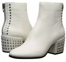 New Dolce Vita Mazey Off White Leather Studded Ankle Boot Size 8.5