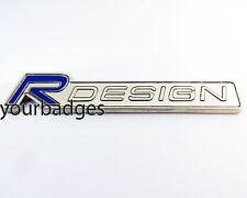 Chrome Volvo R Diseño Esmalte Placa De Coche Placa en Azul V70