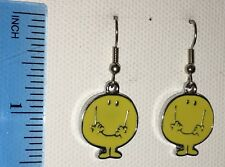 MR HAPPY Earrings Disney Surgical New Mr Men retro yellow