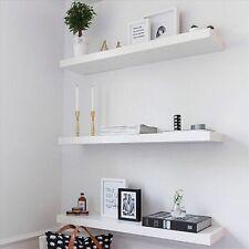 3pc Same Size Wooden Floating Wall Shelf Shelves 60cm 80cm 100cm Mat Timber Look