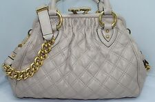 New Marc Jacobs Mini Stam Bag Blush Quilted Satchel Shoulder Handbag