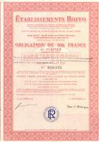 Roffo Company  > 1983 France bond certificate