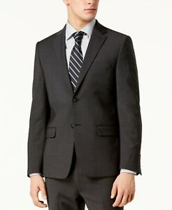 Calvin Klein Men's Suit Jacket 40S Skinny-Fit Infinite Stretch Charcoal