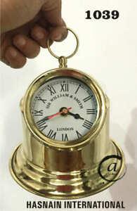 New Marine Working Ship Binnacle Brass Hanging Clock & Home Decor Replica