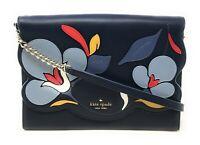 Kate Spade Briar Lane Floral Quilted Holland Blue Crossbody Clutch WLRU5459