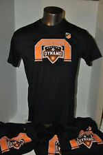 Houston Dynamo Adult Black T-shirt offical Major Leauge Soccer multiple sizes