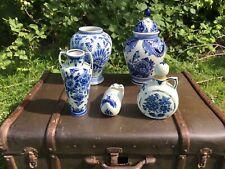 Delft Deckelvase Vase Keramik Handbemalt Konvolut