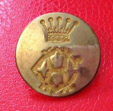 Croome Hunt Coat Button 22mm ,backstamped Pitt & Co 31 Maddox St London
