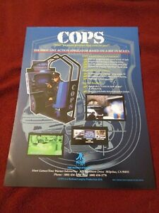 Cops video game simulator 1994 Atari double-sided distribution company flyer ad