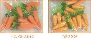Mini Foam Carrots 12pk 6cm - Easter Peter Rabbit Party Supplies