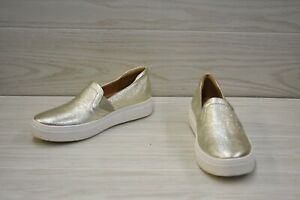 Naturalizer Carly 3 Leather Slip On Comfort Shoes, Women's Size 6.5 W, Gold NEW