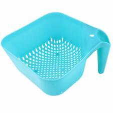 Plastic Square Colander with Handle Fine Mesh Food Strainer Colander