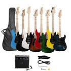 New 8 Colors Maple Neck ST Stylish   Practice Electric Guitar Set w/ Bag AMP