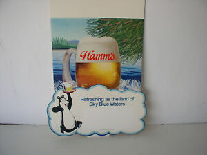 Vintage Hamm's Beer  WINDOW  Poster 14 X 16  inches 1984 brand new