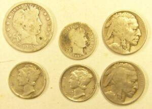 lot pièces argent U.S.A. divers