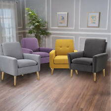 Modern Accent Fabric Chair Single Sofa Comfy Upholstered Arm Chair Living Room