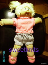 "KNITTING PATTERN DOLL CLOTHES for CABBAGE PATCH KID  18""  JUMPER SHORTS SHOES"