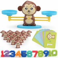 Kids Animals Number Math Learning Toys Monkey Balance Scale Toy Math Game Gifts
