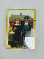 Collectible John Deere Playing Card Zolan Art American Gothic farm kids SEALED