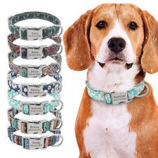 Personalized Name Dog Collar Engraved ID Custom Adjustable Small Large Bulldog