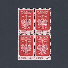 Poland's 1000th Year of Christianity - Vintage Mint Set of 4 Stamps 52 Years Old
