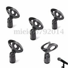 5x Flexible Microphone Clip Holder Mount Mic Stand Clamp Accessory Plastic Black