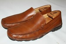 Kenneth Cole Reaction Way to Go Men's Brown Leather Slip On Loafers Shoes - 10 M