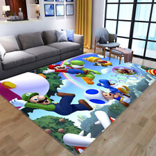 Super Mario Area Rug Carpet Bedroom Anti-Skid Rug Home Living Room Floor Mats