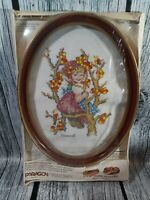 Vtg 1980 Cross Stitch Kit, Paragon Needlecraft Kit, Hummel Apple Tree...