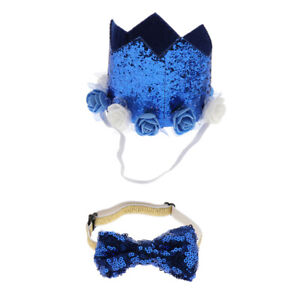 Pet Crown Hat For Pets Cat, kitten, small dog, puppy, cosplay Costume Blue