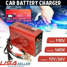 12V/24V Car Battery Charger Volt Pure Copper Pulse Repair Smart Car Battery USA